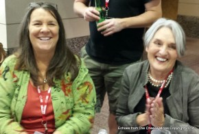 Left, Mary Keehn and right Judy Schad