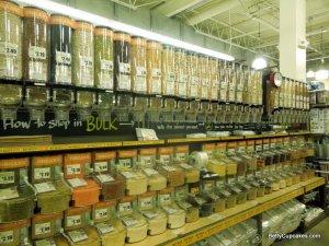 Bulk bins at Whole Foods Market, South Weymouth, Massachusetts