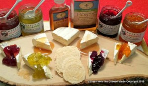 Marin French Triple Creme with Kelly's Jelly Selection and Blue Haven Bee Company Honeys