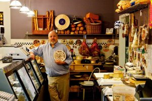 Allin Tallmadge in his shop in Montclair, New Jersey