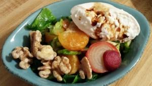 Burrata Salad with CSA Greens and Veggies