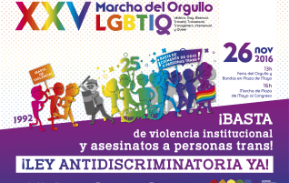 XXV MARCHA DEL ORGULLO AÑO 2016