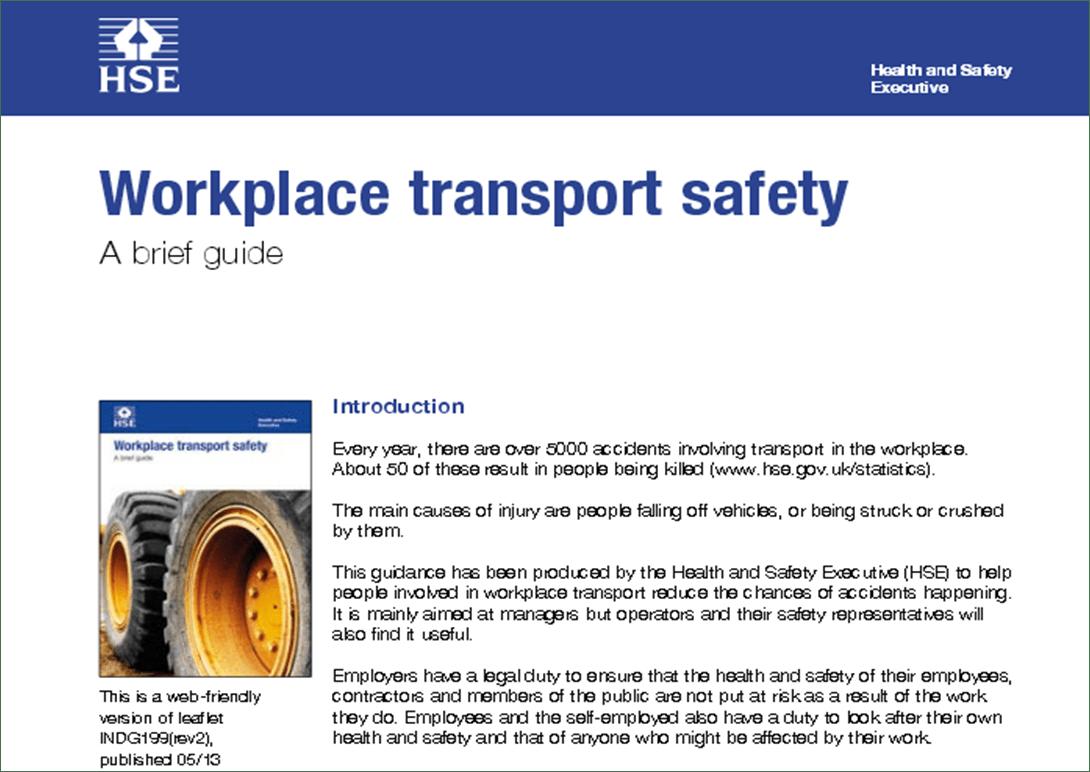 Le linee guida per la sicurezza dei trasporti all'interno dei luoghi di lavoro