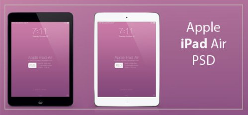 Apple iPad Air Mockup PSD by wellgraphic.com