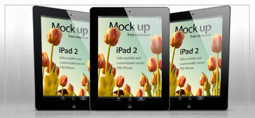 iPad 2 Psd Vector Mockup Template by Pixeden