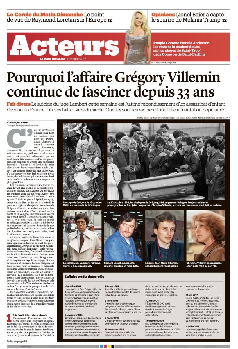 L'affaire Gregory