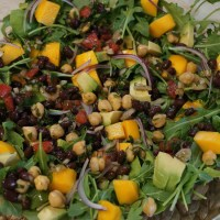 Arugula Salad with a Middle Eastern Twist