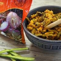 Cluster Beans - (Gavar with Kanda Lasoon Masala)