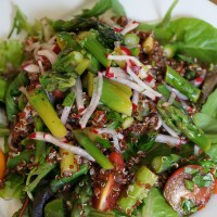 Red Quinoa and Asparagus Salad