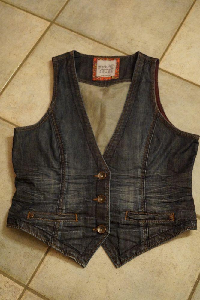 ESPRIT, Jeans-Gilet, Gr.XL, Preis: € 17.-