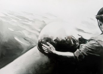 Sin título IV (La trama). Óleo sobre tabla, 61 x 85 cm