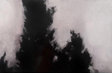 Sin título V (La trama). Óleo sobre tabla, 41 x 61 cm