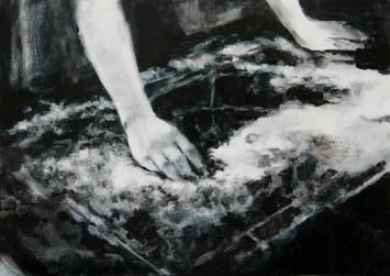 Sin título (Le tableau II). Óleo sobre papel, 30 x 42 cm
