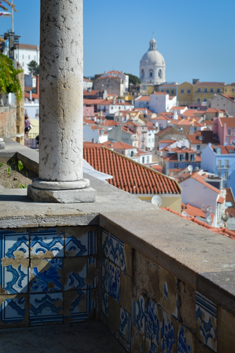 View over the Alfama from Miradouro de Santa Luzia