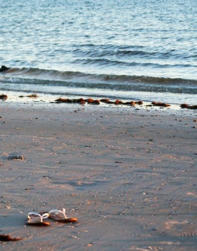 Sandals on a beach