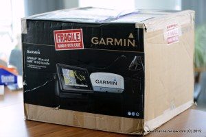 It is a HUGE box - The Garmin GPSMAP 741xs with Radar takes a lot of space