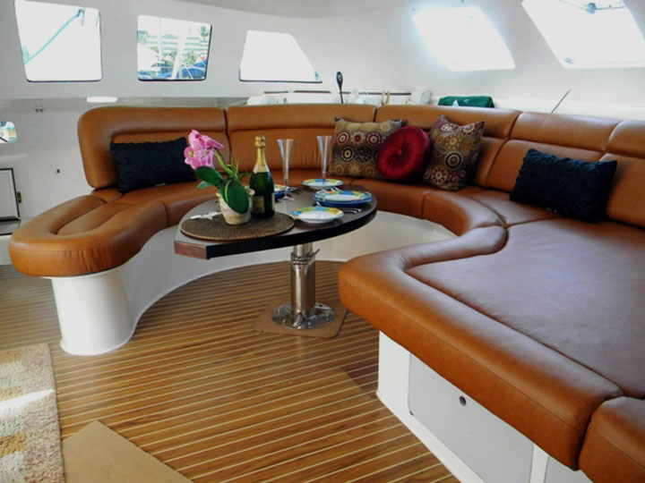 Marine Cushions Los Angeles   Yacht Cushions   Boat Cushions Replacement     Yacht Interior Upholstered in California