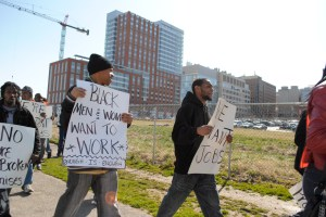 East Baltimore residents protest at Johns Hopkins and EBDI for jobs and economic justice