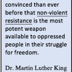 Dr. King's Non-violence: tactic AND truth