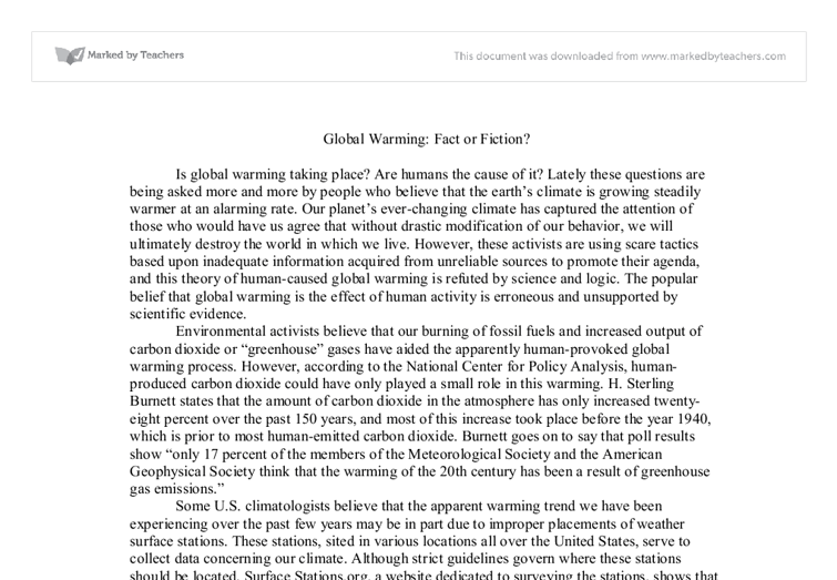 Global Warming Subjects for a Research-Paper