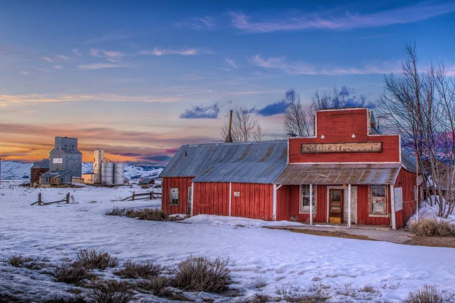 Mark Epstein Photo | Sunset on the Old Corral Store