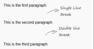 how to make a vertical line break in word