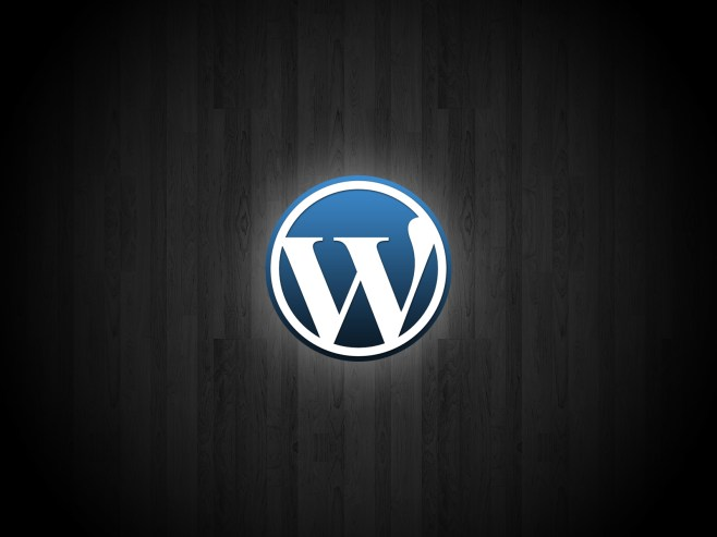 Wordpress glowing logo