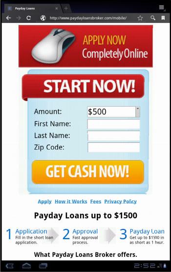 list of licensed payday lenders