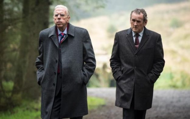 "Timothy Spall as Ian Paisley, left, and Colm Meaney as Martin McGuinness in ""The Journey."""