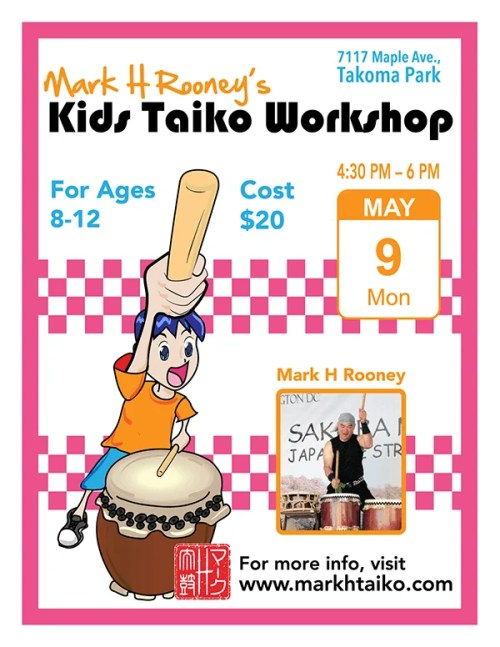 Kids Taiko Workshop: May 9, 2016