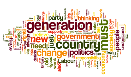 Ed Miliband speech word cloud