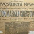 New York Daily fails to predict the stock market crash of 1929