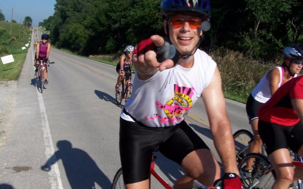 Mark Seidl Riding RAGBRAI
