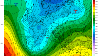 Cold, Blustery, Wintry Valentine's Day Weekend For UK While Windstorm Sweeps France, Iberia