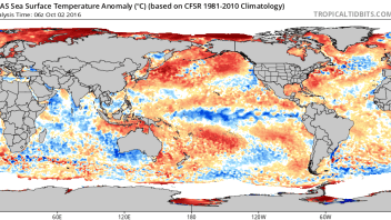 WINTER 2016-17: Thoughts On Latest Global Sea Surface Temperature Anomaly