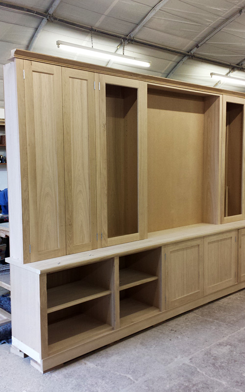 Oak Living Room Cabinet Finished And Fitted Mark