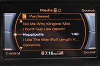 Audi AMI access to iPhone playlists (MMI)