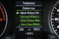 Audi accessing iPhone phonebook (Driver Display)
