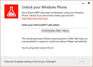 ChevronWP7, queued for unlock