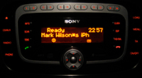Sony/Ford Audio System paired with iPhone