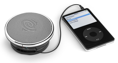 Product shot of Altec Lansing Orbit portable speaker