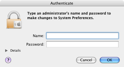 OS X authentication