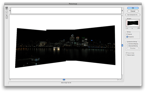 Photomerging in Adobe Photoshop CS2