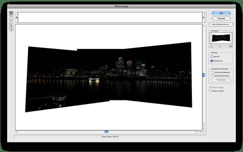 Photomerging in Adobe Photoshop CS2