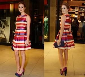 Este vestido, usado por Marina Ruy Barbosa é outro clássico atemporal, podendo ser confeccionado com vários tecidos, de tafetá de seda a tricoline. Segue moldes do número 38 ao 54.