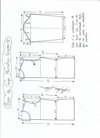 Esquema de modelagem de Base do Corpo Masculino tamanho 48.
