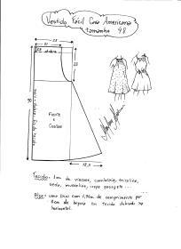 Esquema de modelagem de vestido fácil com cava americana tamanho 48.