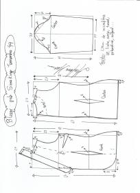 Esquema de modelagem de Blazer Smoking tamanho 44.