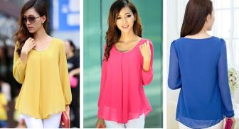 Uma blusa de meia estação que veste bem magrinhas e cheinhas com modelagem do 36 ao 56.