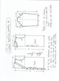 Esquema de modelagem de cardigan tamanho (40/42).